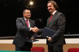 Pokrajinski sekretar za visokoobrazovanje Zoran Milošević i dekan Akademije umetnosti Siniša Bokan