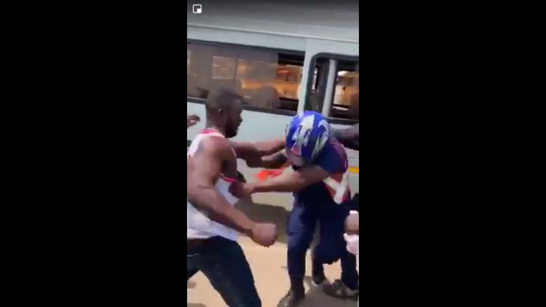 Police officer beaten by a group of men