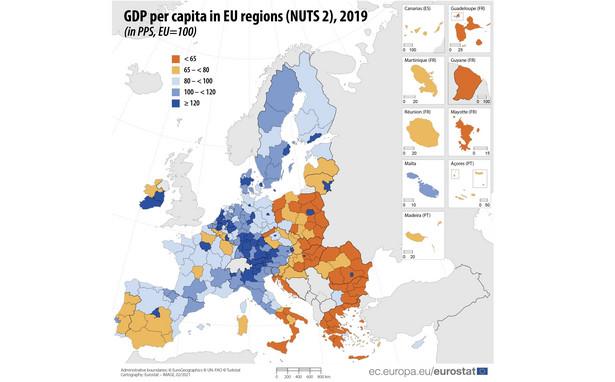 Regionalny PKB per capita w 2019 r.