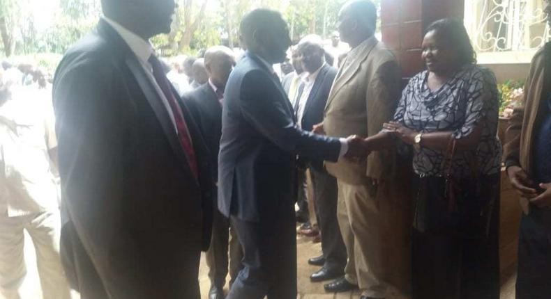 DP William Ruto at the home of the late Jonathan Moi in Kabimoi, Baringo County (Courtesy)