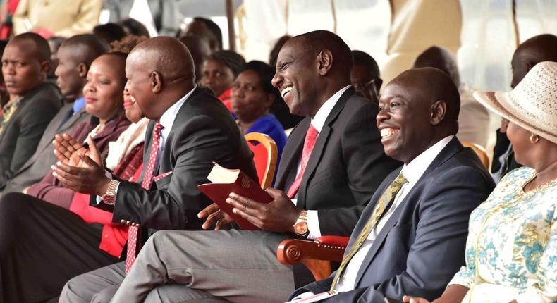 File image of Rigathi Gachagua with DP Ruto at a past event in Nyeri county