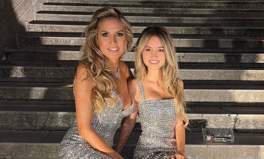Heidi Klum is proud of her daughter.  17-year-old Leni Klum takes her first steps in the world of modeling.