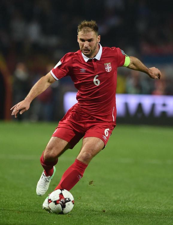 Branislav Ivanović dok je bio kapiten reprezentacije Srbije