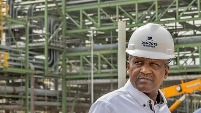 Dangote starts pre-testing of his $2 billion fertiliser plant in Lagos - one of the world's biggest projects in the fertiliser industry