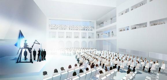 Dole će biti prostor za performanse, a na gornjim nivoima kafei, knjižare...
