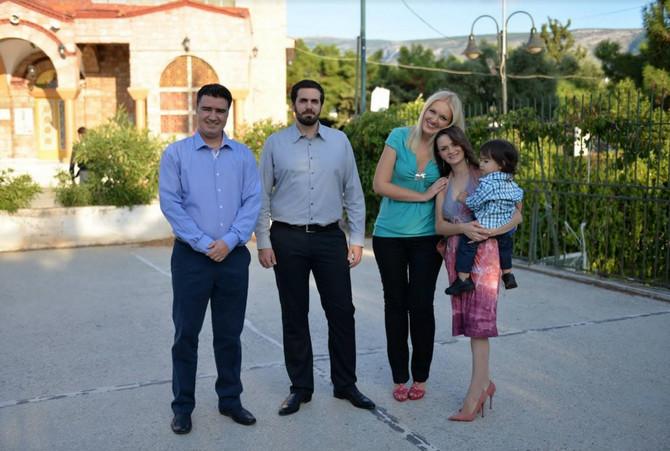 Porodična idila: Sanja sa sinom i suprugom i Tijana sa mužem