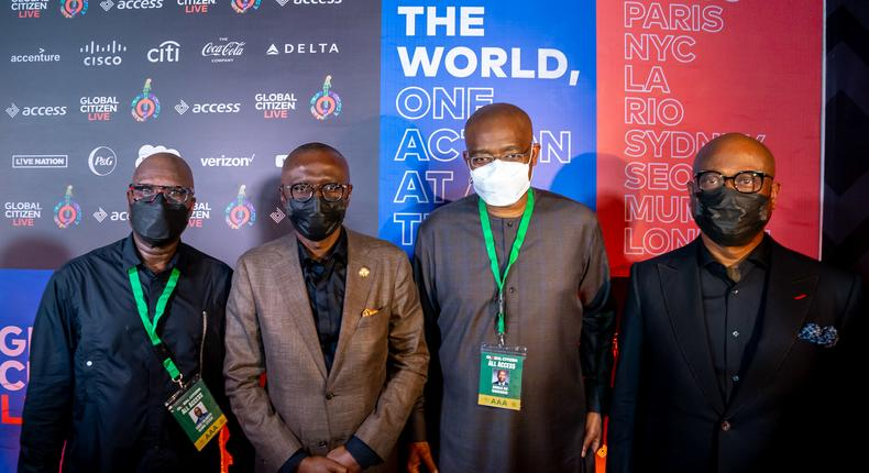 Governor Babajide Sanwo-Olu advocates COVID-19 vaccine equity at Global Citizen Live.