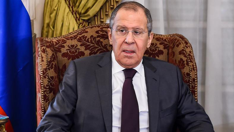 Szef MSZ Rosji Siergiej Ławrow z wizytą w Egipicie
