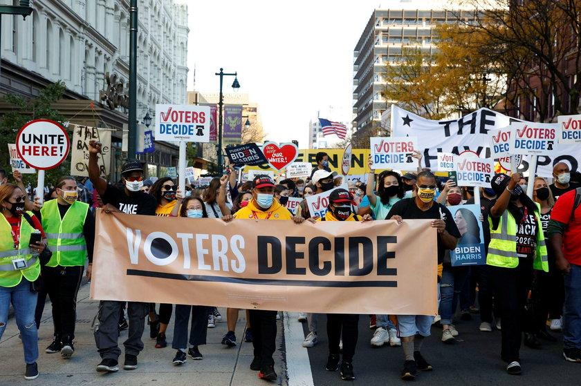 Wybory prezydenckie w USA. Ludzie wyszli na ulicę