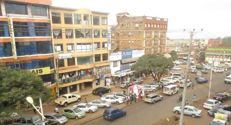 Aerial view of Embu town