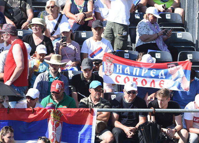 Navijači na duelu Novak Đoković - Aleksandar Zverev na Adria tour turniru u Beogradu