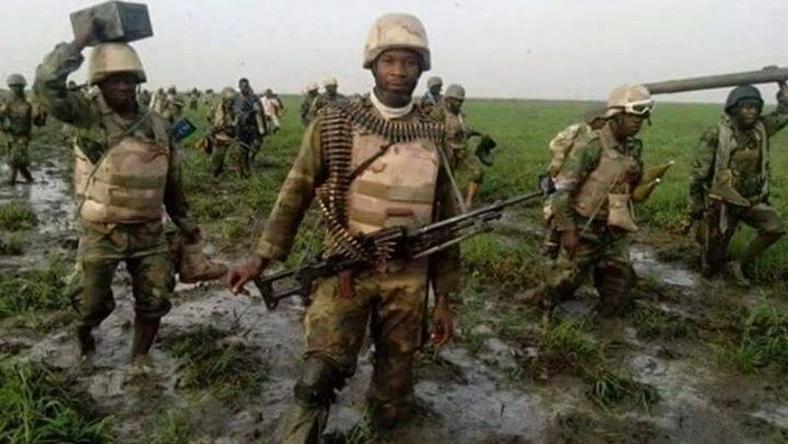 Nigerian troops.