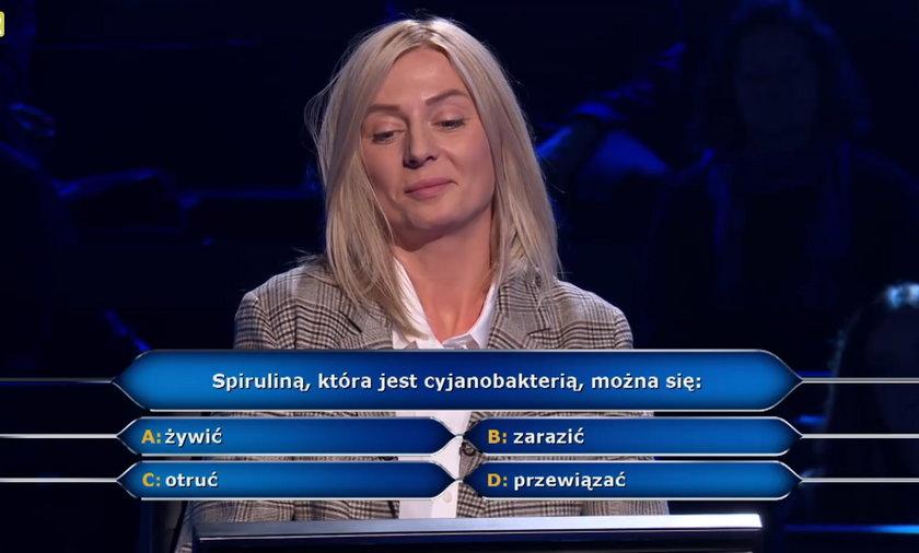 """""""Milionerzy""""- literaturoznawczyni z Łodzi odpadła na pytaniu o spirulinę!"""