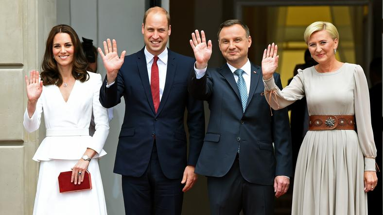 Księżna Kate i książę William z polską parą prezydencką
