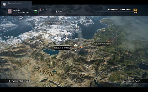 For Honor - mapa kampanii fabularnej