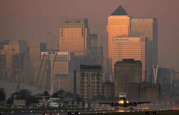 London City widziane z ziemi