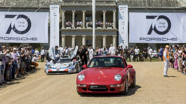 70 lat Porsche – parada w Goodwood