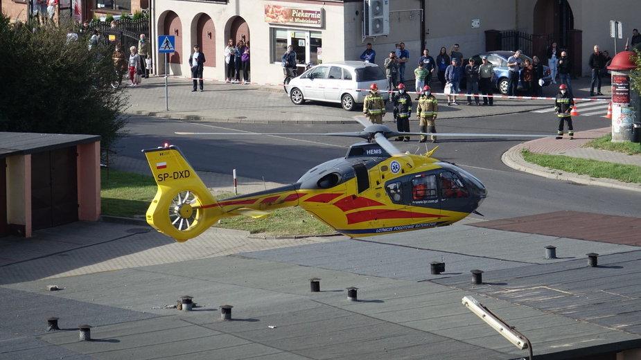 Lotnicze Pogotowie Ratunkowe podczas akcji w Wieluniu