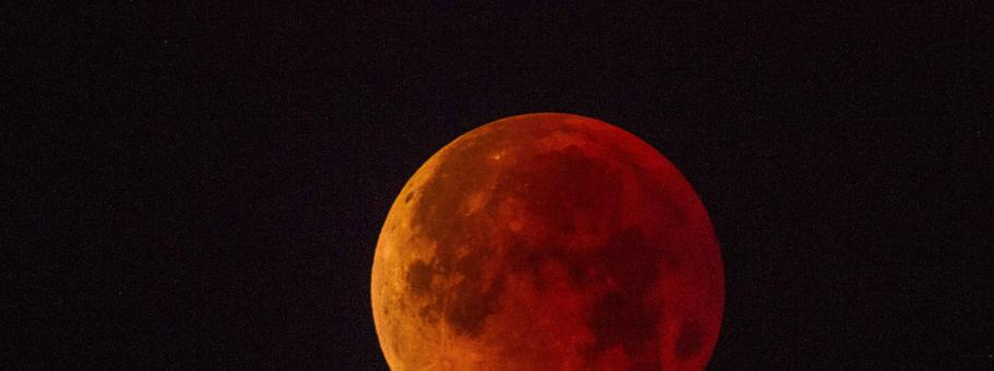księżyć zaćmienie krwawy księżyc Super Blue Blood Moon over San Diego