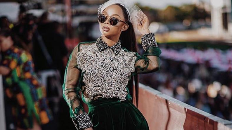 Toke Makinwa has never looked so good as she shines in Mai Atafo at Durban July [Credit: Instagram/ TokeMakinwa]