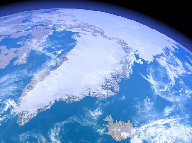 Grenlandia - widok z kosmosu