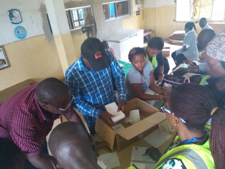 Voters during the Lagos LG election