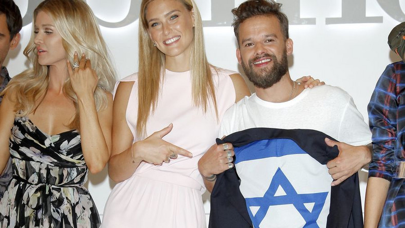 "Michał Piróg i Bar Refaeli na planie ""Top Model"""