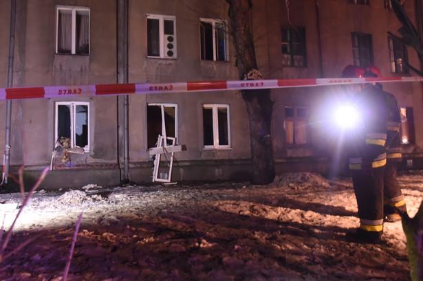 Do wybuchu gazu doszło, 28 bm. w budynku mieszkalnym w Łodzi. PAP/Grzegorz Michałowski