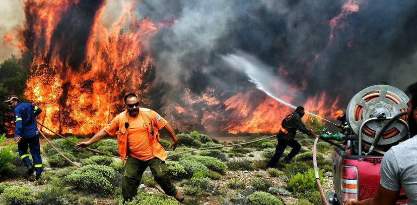 Pożary szaleją w Grecji. Ewakuowano dwie miejscowości