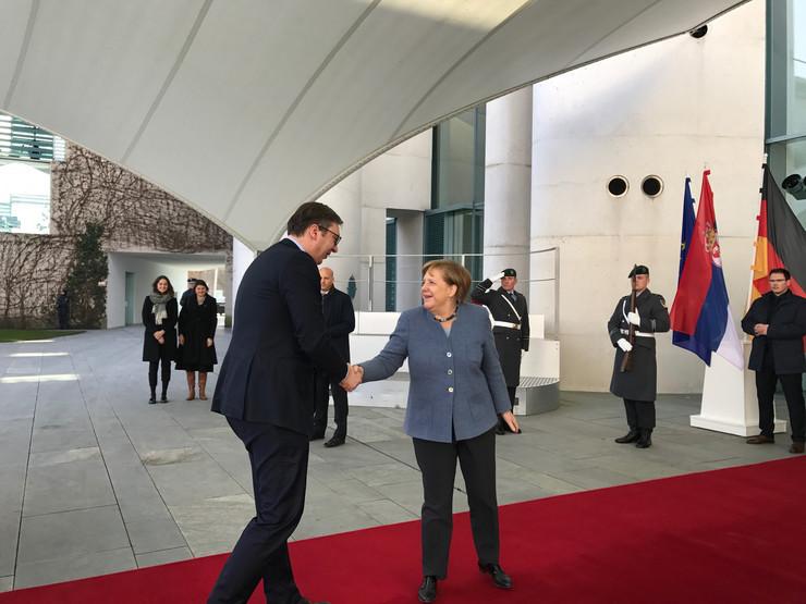 Aleksandar Vučić, Angela Merkel, Berlin