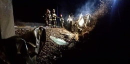 Samochód zderzył się z pociągiem. Kierowca w ostatniej chwili zdążył uciec
