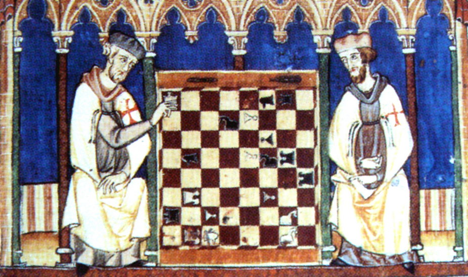 Templariusze grający w szachy (obraz
