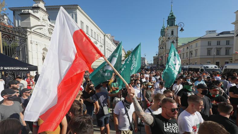 Wiec Młodzieży Wszechpolskiej w Warszawie
