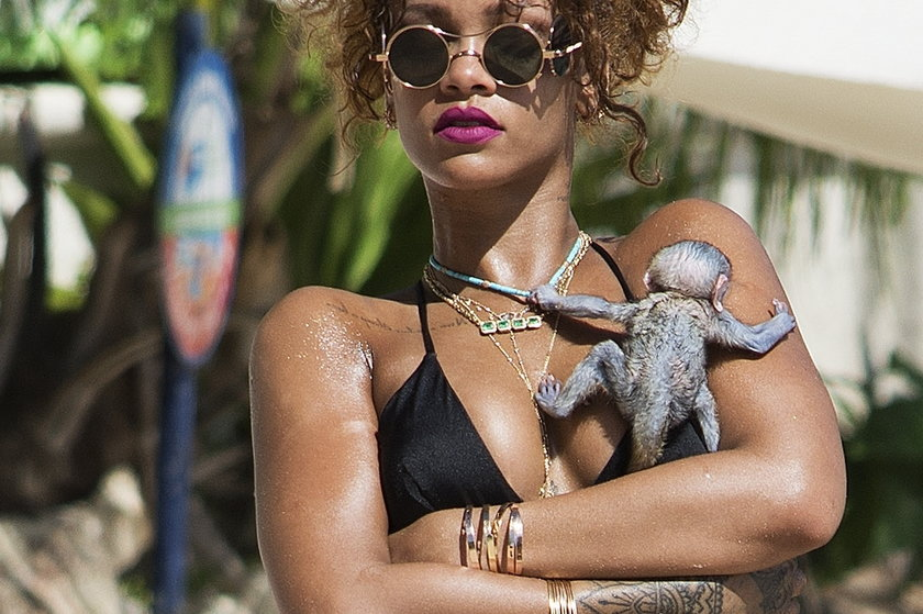 Rihanna z małpką
