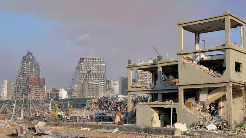 Zniszczenia w Bejrucie po wybuchu w porcie