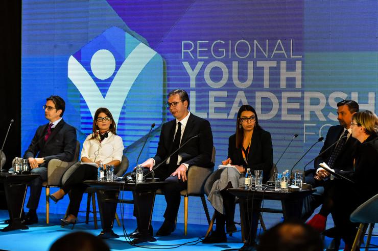 Aleksandar Vučić, Borut Pahor, Stevo Pendarovski, Novi Sad, Forum mladih