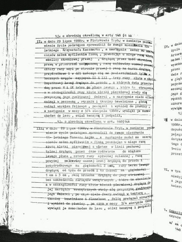 Dokumenty sprawy Trynkiewicza