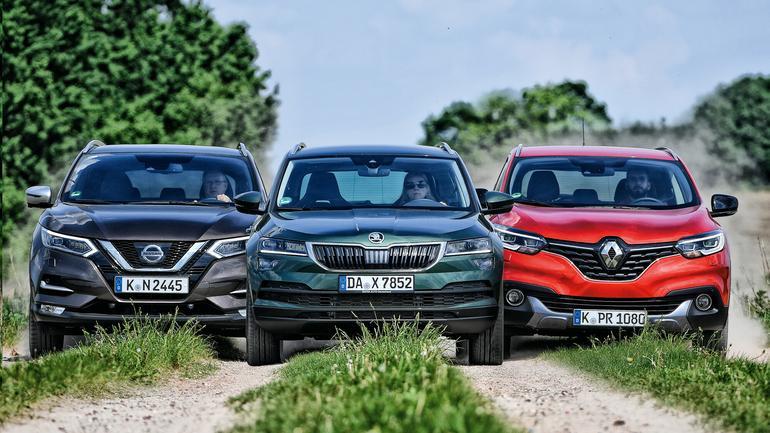 SUV-y z kapelusza: Nissan Qashqai, Renault Kadjar i Skoda Karoq