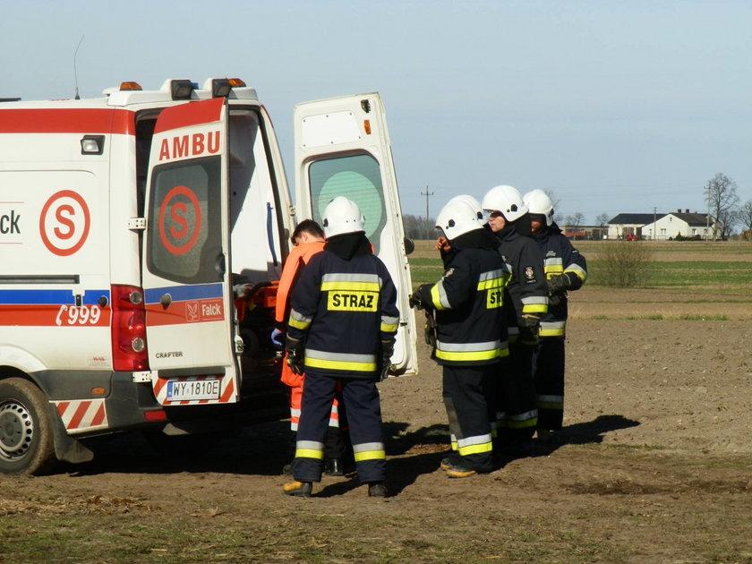35-latek został przetransportowany do jednego z łódzkich szpitali