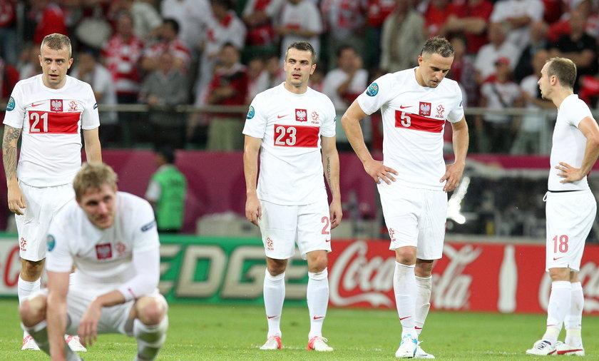 smutek piłkarzy reprezentacji polski