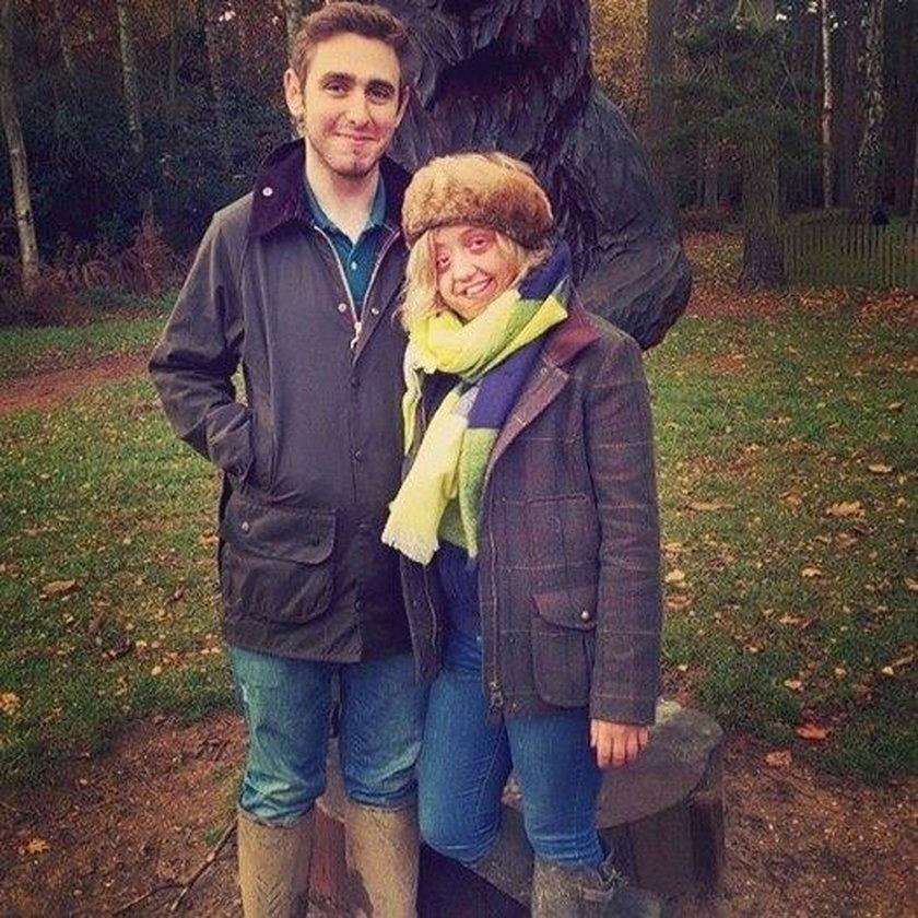 Sophie Walker  ze swoim chłopakiem