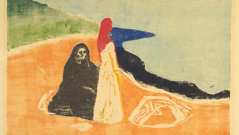 """Edvard Munch, """"Dwie kobiety na wybrzeżu"""""""