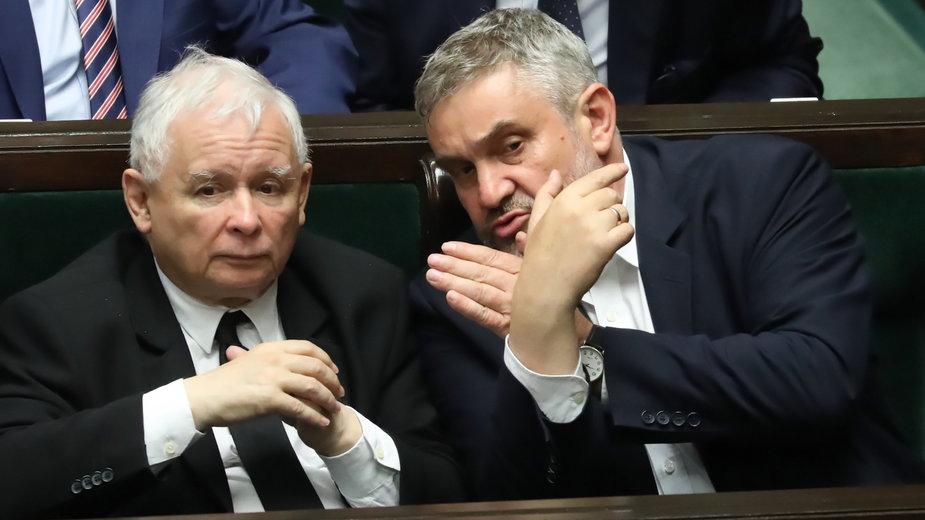 (od lewej) Jarosław Kaczyński i Jan Krzysztof Ardanowski