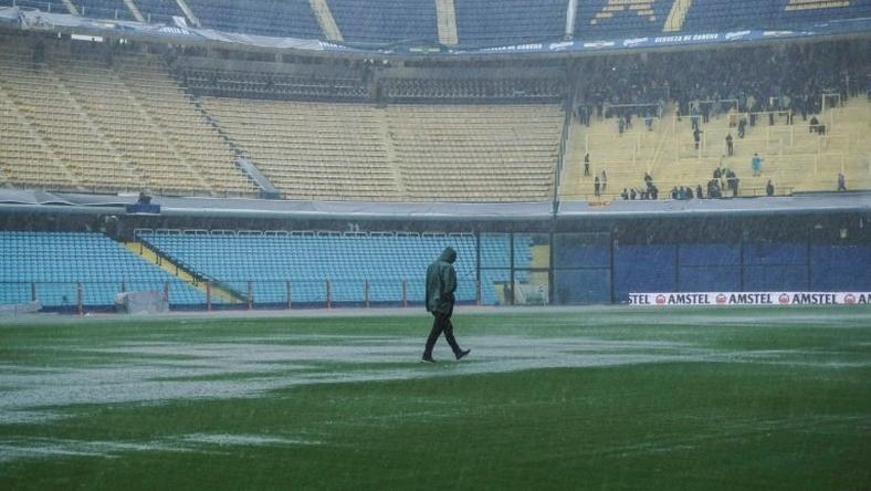 The final of the Copa Libertadores is postponed until Sunday after torrential rain drenches Buenos Aires