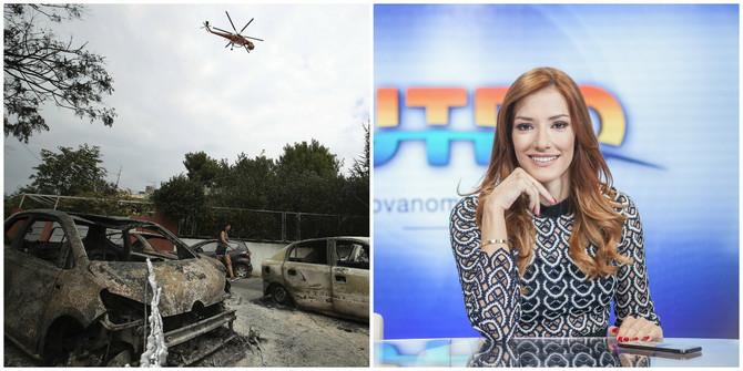 Voditeljka Jovana Joksimović trenutno se nalazi u Atini koju su zahvatili požari