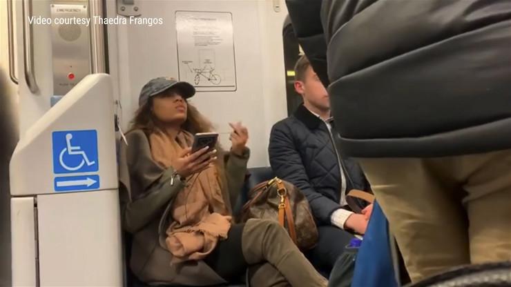 Histericna putnica u metrou