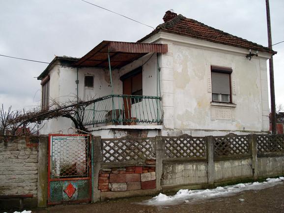 Kuća u selu Glogovica u kojoj se desilo ubistvo