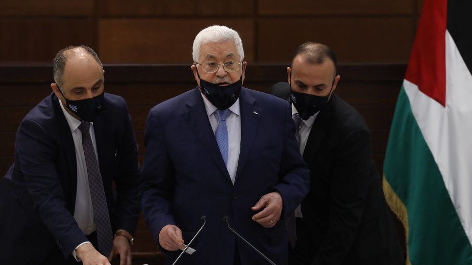 Przewodniczący Autonomii Palestyńskiej Mahmud Abbas