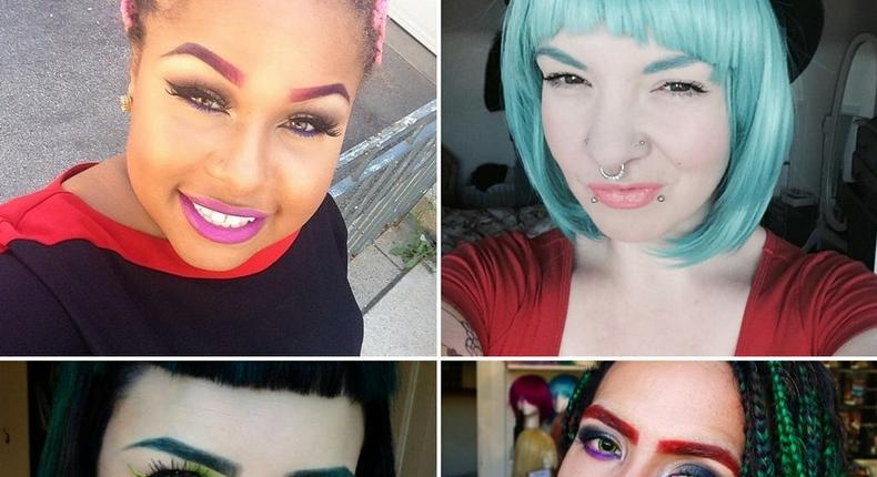 Rainbow eyebrow beauty trend