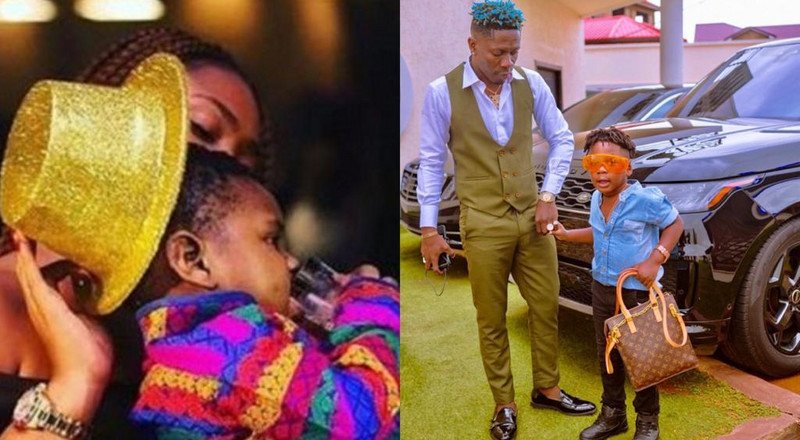 He will rule one day; Shatta Wale and Michy celebrate birthday of  Majesty their son